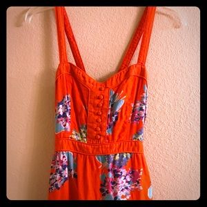 American Eagle Outfitters orange flowered dress